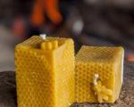 product - vierkante stomp met raat en bij